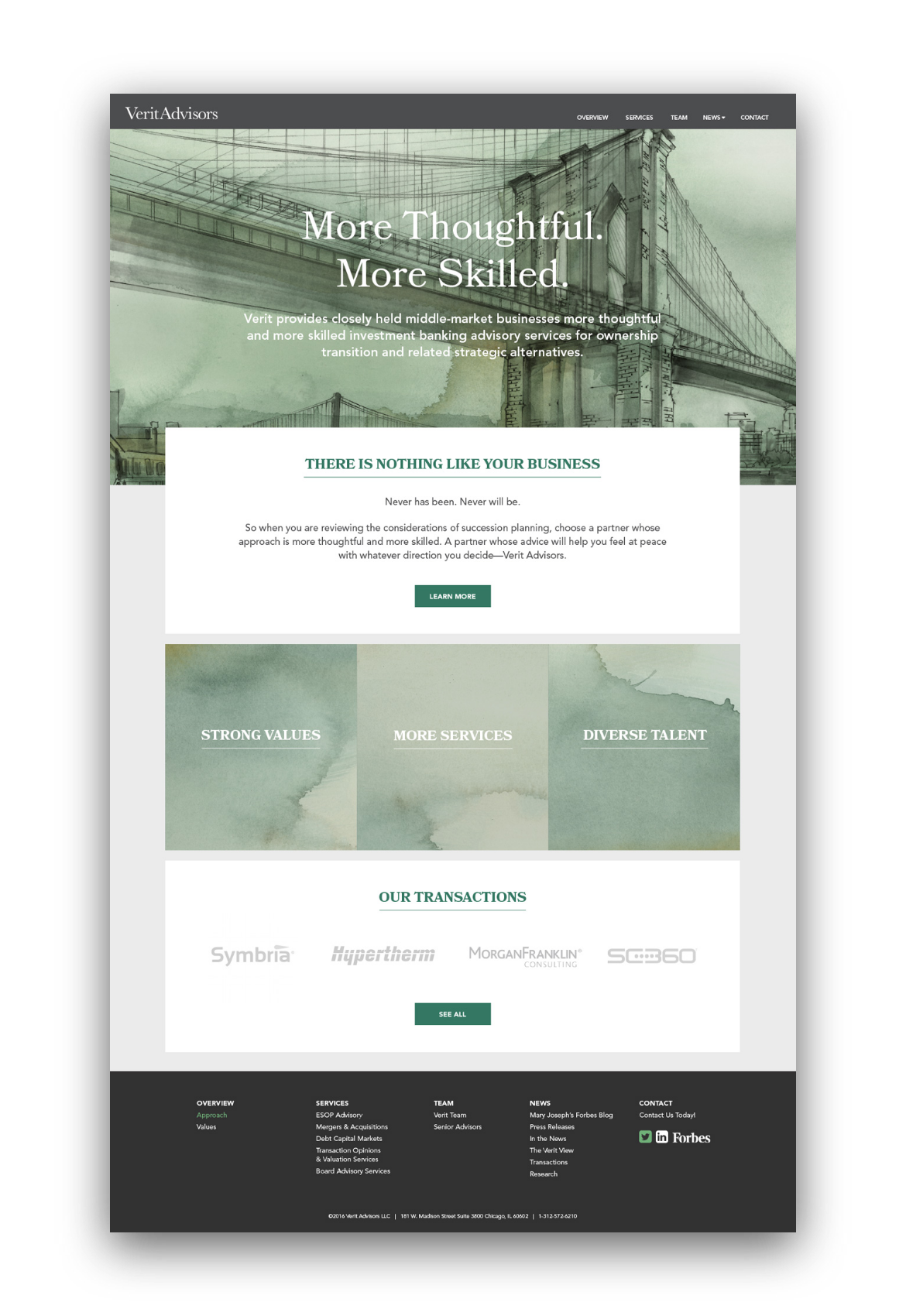 Verit Advisors homepage